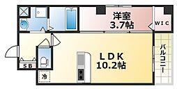 ベリーウェルIII 4階1LDKの間取り