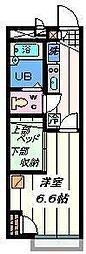 東京都足立区綾瀬2丁目の賃貸アパートの間取り
