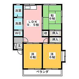 レスポワール[1階]の間取り