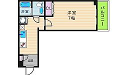 JR大阪環状線 寺田町駅 徒歩7分の賃貸マンション 1階1Kの間取り