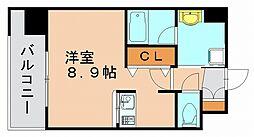 エンクレスト博多REY[13階]の間取り