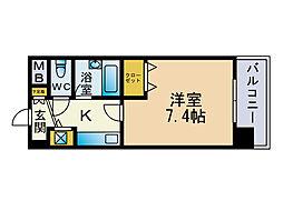 ライオンズプラザ博多駅南[2階]の間取り