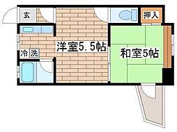 兵庫県神戸市長田区長尾町2丁目の賃貸アパートの間取り