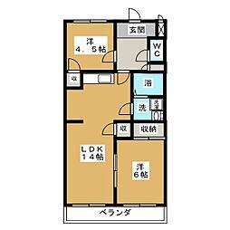 アメニティ板倉[4階]の間取り