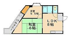 第二元木ビル[2階]の間取り