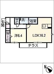 仮)JA賃貸豊田市緑ヶ丘 1階1SLDKの間取り