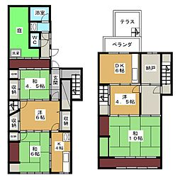 [一戸建] 京都府京都市東山区本町9丁目 の賃貸【/】の間取り