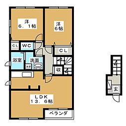 ボナールソフィアA[2階]の間取り
