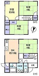 [一戸建] 千葉県千葉市緑区土気町 の賃貸【/】の間取り