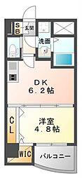 SEST新大阪[8階]の間取り