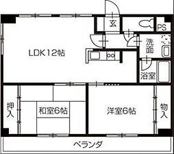 愛媛県松山市久米窪田町の賃貸マンションの間取り