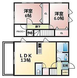 P−HOUSE[1階]の間取り