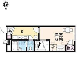 レオパレスウエストI[2階]の間取り
