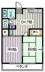 埼玉県戸田市笹目7丁目の賃貸アパートの間取り