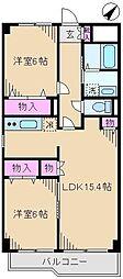 東京都北区王子1丁目の賃貸マンションの間取り