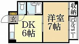 西賀茂ロイヤルリバーマンション[1階]の間取り