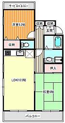 ボナール島田[2階]の間取り