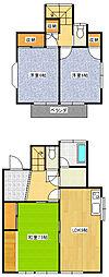 JR高崎線 北本駅 徒歩11分の賃貸一戸建て 3LDKの間取り