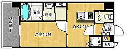 「アクアプレイス京都西院」[3階]の間取り