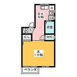 JUN'Sハウス[1階]の間取り