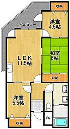 イーリス武庫之荘[2階]の間取り