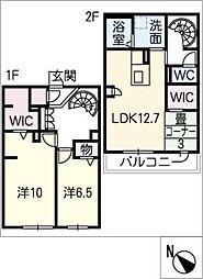[タウンハウス] 三重県四日市市大字茂福 の賃貸【/】の間取り