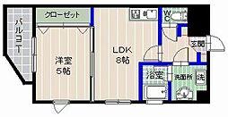 ラポール干隈[3階]の間取り