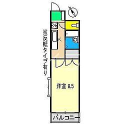 グランドムール高須[2階]の間取り