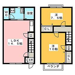 [テラスハウス] 三重県伊賀市小田町 の賃貸【/】の間取り
