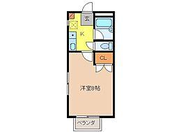 コーポみほの[1階]の間取り