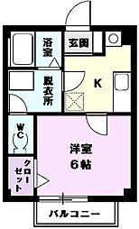 ミレニアム五才美2[201号室]の間取り