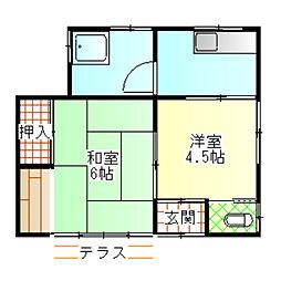 [一戸建] 神奈川県小田原市寿町1丁目 の賃貸【/】の間取り