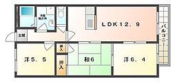 パークサイド寝屋川[2階]の間取り