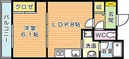 アサート木屋瀬(高優賃)[4階]の間取り