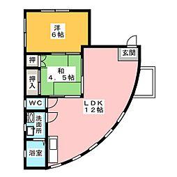 ラ・フォーレ[2階]の間取り