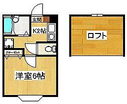 コーポ岡田[205号室]の間取り