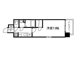 Osaka Metro中央線 森ノ宮駅 徒歩4分の賃貸マンション 2階1Kの間取り