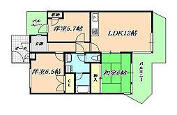 ガーデンハイツ桃山台弐番館[3階]の間取り