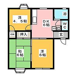 コートビレッジC棟[1階]の間取り
