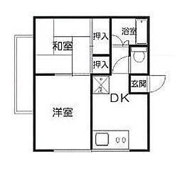 神奈川県川崎市麻生区高石4丁目の賃貸アパートの間取り