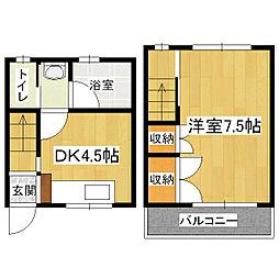 コーポSASAE[1階]の間取り