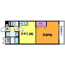 アミュゼ新大阪[12階]の間取り