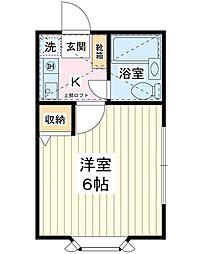 ローズアパートQ48番館A号棟[1階]の間取り