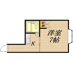 太子橋駅前ハイツ2[3階]の間取り