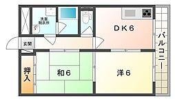 メゾン八坂[2階]の間取り