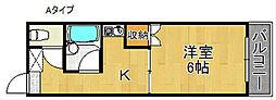 クライマーコーポヒロ[1階]の間取り