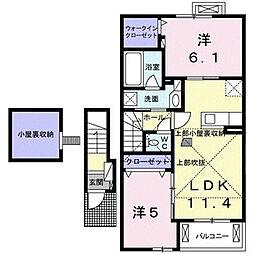 シエロガーデンI[2階]の間取り