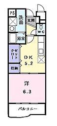 ビューラー鷺沼III[1階]の間取り