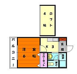 トピア舞松原[2階]の間取り