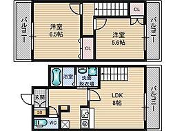 NLC新大阪[7階]の間取り